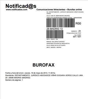 Blog burofax online notificad s que for Modelo acuerdo extrajudicial clausula suelo